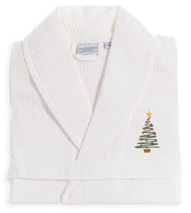 Linum Home Tree Waffle Weave Embroidered Bathrobe Bedding