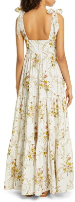 Brock Collection Floral Tiered Maxi Dress