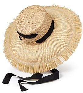 Helene Berman Straw Fringe Hat