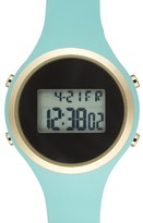 Titanium Women's Lcd Silicone Strap Watch, 39Mm