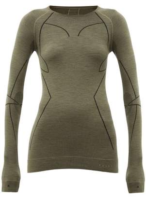 Falke Thermal Stretch Wool Performance Top - Womens - Green