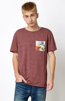 On The Byas Contrast Maroon Pocket T-Shirt