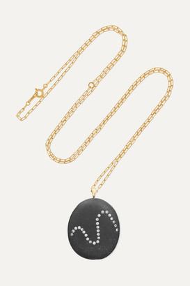 Cvc Stones Wave 18-karat Gold, Stone And Diamond Necklace - one size