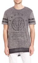 True Religion Mesh Inset Elongated Tee
