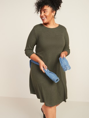 Old Navy Plush-Knit Plus-Size Swing Dress