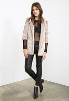 Forever 21 FOREVER 21+ Longline Faux Fur Coat