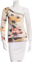 Sonia Rykiel Printed One-Shoulder Top