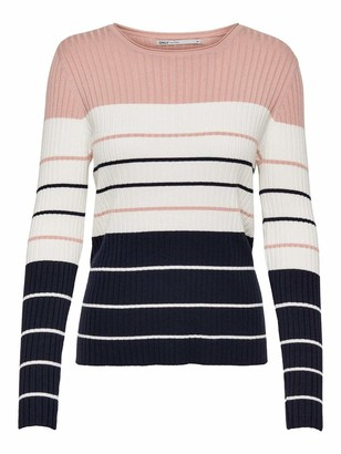 Only Women's Onlnatalia Stripe L/s Pullover KNT Noos Sweater