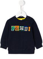 Fendi felt logo sweatshirt