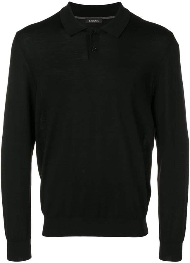 Ermenegildo Zegna long-sleeve fitted polo top