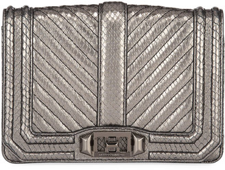 Rebecca Minkoff Love Small Chevron Quilted Embossed Leather Crossbody Bag