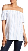 Vince Camuto Off-the-Shoulder Stripe Blouse