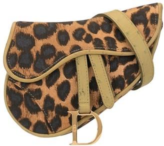 Christian Dior pre-owned leopard Saddle belt bag