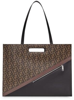 Fendi FF motif diagonal tote bag