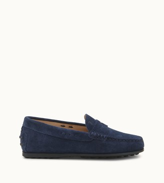 Tod's Junior City Gommino Driving Shoes in Suede