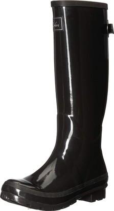 Joules Women's Field Welly Gloss Wellington Boots Black (True Black) 6 UK (39 EU)