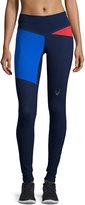 Lucas Hugh Rio Colorblock Sport Leggings, Midnight Blue