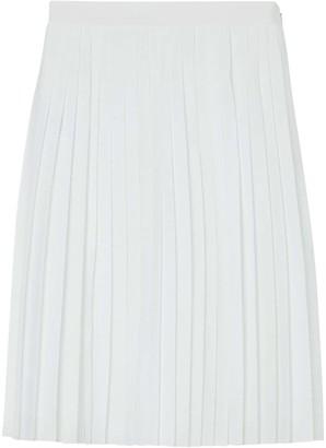 Burberry Silk-lined Pleated Skirt