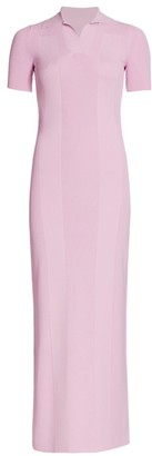 Jacquemus Maille Polo Ribbed Maxi Dress