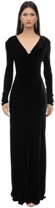 Maria Lucia Hohan Vivia Long Silk Velvet Dress