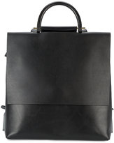 Building Block flat backpack - women - Leather - One Size