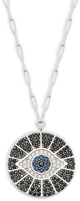 GABIRIELLE JEWELRY Sterling Silver Cubic Zirconia Evil Eye Pendant Necklace
