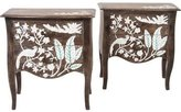 Mother of Pearl-Inlaid Side Tables