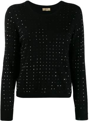 Liu Jo studded fine knit sweater