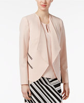 Nine West Zip-Pocket Open-Front Blazer