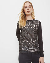 ANLISE Geo lace front sweater