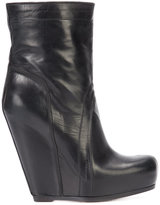 Rick Owens pull-on wedge boots - women - Calf Leather/Leather/rubber - 36