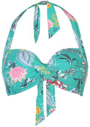 Seafolly Water Garden Halter Neck Bikini Top Womens