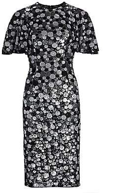 Michael Kors Women's Metallic Paillette-Print Sheath Dress