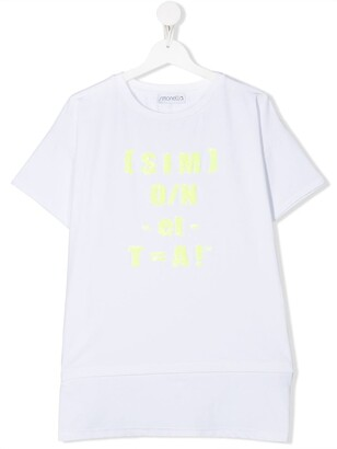 Simonetta TEEN sequin equation longline T-shirt