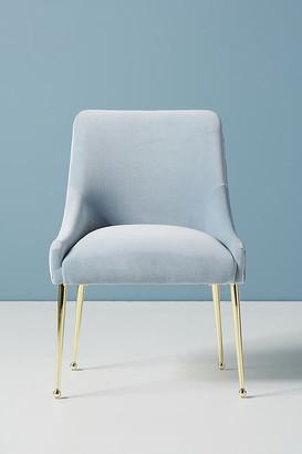 Anthropologie Valencia Velvet Elowen Chair By in Blue