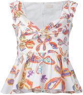 Peter Pilotto floral peplum blouse