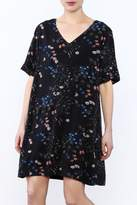 Gentle Fawn Black Oversized Floral Dress