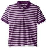 Lacoste Men's Short Sleeve Jersey Stripe Regular Fit Woven Shirt-DH2017