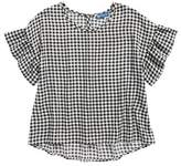 Truly Me Gingham Ruffle Sleeve Top