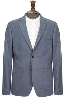 Burton Mens Blue Wool Blend Blazer