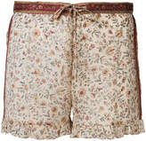 Mes Demoiselles floral print shorts with frill trim