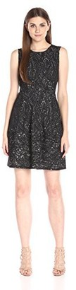 BCBGMAXAZRIA Azria Women's Cassandra Sleeveless A-Line Lace Dress