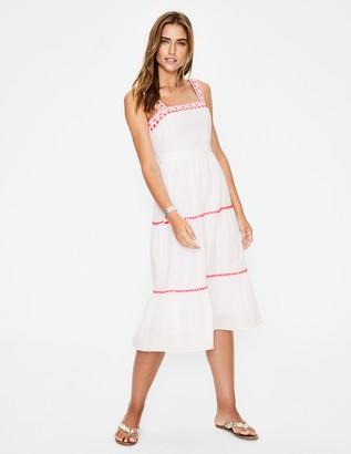 Estella Embroidered Midi Dress