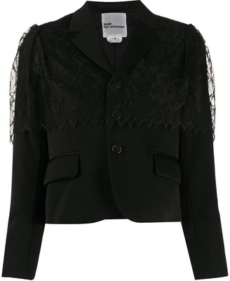 Comme des Garcons Lace-Overlay Cropped Jacket