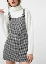 Mango Outlet Houndstooth pinafore dress
