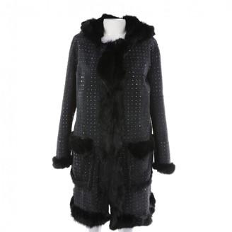 Philipp Plein Black Fur Coat for Women
