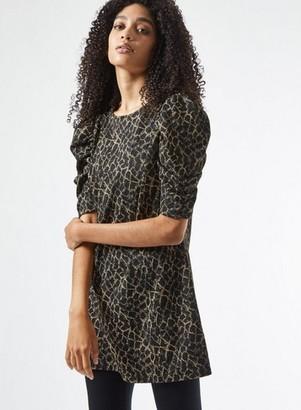 Dorothy Perkins Womens Multi Colour Leopard Print Lurex Tunic