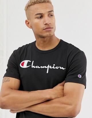 Champion large script logo t-shirt in black
