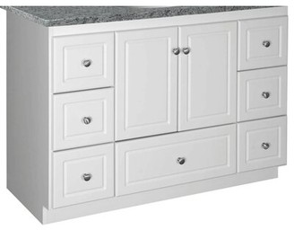 "Millwood Pines Lysette 48"" Single Bathroom Vanity Base Only Base Finish: Satin White, Depth: 21"