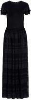 Emporio Armani Black Short Sleeves Dress